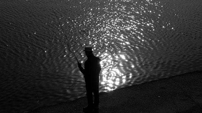 Fisherman by the Han River, Seoul